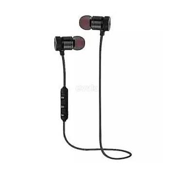 Wireless Bluetooth Earphone Stereo Music Sport Headphone In Ear Headset with Mic-Black