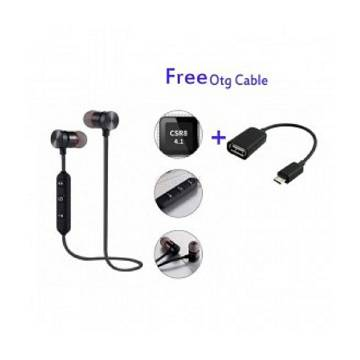 Wireless Bluetooth Earphone with OTG Cable