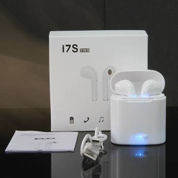 Original i7s TWS Wireless Bluetooth AirPods Earbuds with Charging case -White
