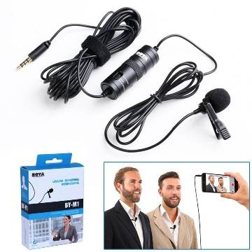 BOYA BY M1 Professional Microphone For Mobile & Dslr - Black