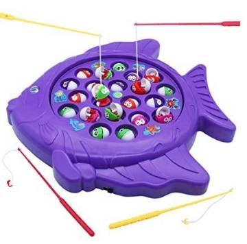 Fishing Fish Game Kids Toy (15 Fishes, 4 Players)