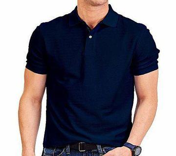 navy Cotton half sleeve Polo Shirt For Men