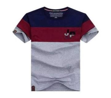 Multicolor Cotton Short Sleeve T-Shirt for Men