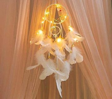 Feather Dream Catcher, LED Light