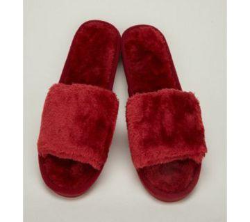 Woolen Slippers Women Wear Sheep Cake Wool Open-Toe Flip-Flops Indoor Wood Floor Cotton Slippers for Autumn and Winter