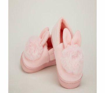 Winter Plush Kids Cross Section Cotton Warm Non-Slip Slippers