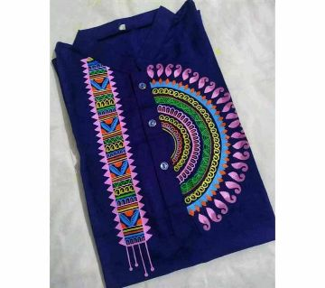 Full Sleeve Casual Mens Hand Print Panjabi