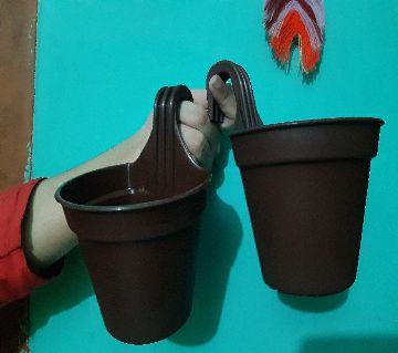 12 cm (4.8) Small Size Grill Planter Railing Pots 1Pc