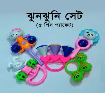 Colourful Shaking Jhunjhuni Toy Set