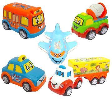 3 Pieces Multicolor Small Car Set Toy