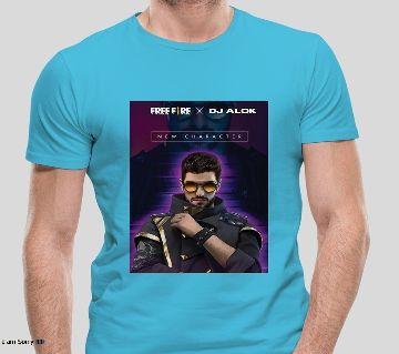 """""""dj alok free fire"""" t shirt for men - light blue"""