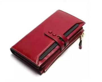 Genuine Leather Ladies Purse - Red