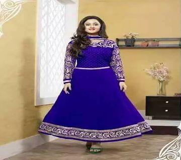 Block Printed Cotton Salwar Kameez For Women-Blue