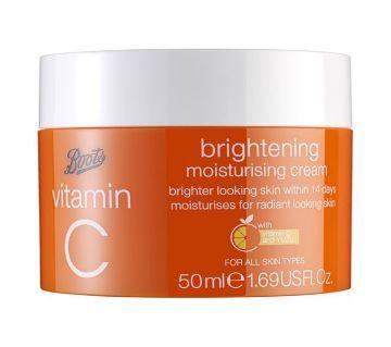 Boots Vitamin C Brightening Moisturising Cream 50ml (UK)