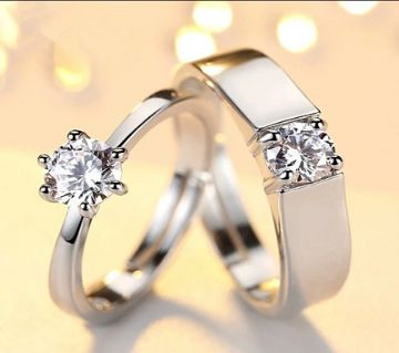 Silver Plated China couple Ring(2pcs)-02