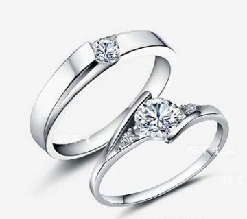 Silver Plated China couple Ring(2pcs)-11