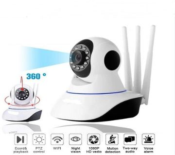 3 Antenna IP Camera WIFI Monitor Two-way Audio / Night Vision