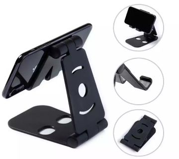 Mobile Phone Stand,  Folding Bracket Flat Mobile Stand-Black