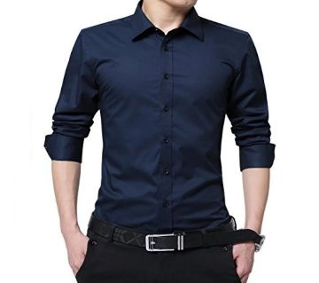 Navy Blue Formal Shirt for Man