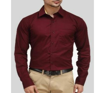 Maroon Colour Formal Shirt for Man