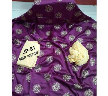Japani Silk Afsan Screen Print Silk Salwar Kameez For Women Three Piece - Purple Color