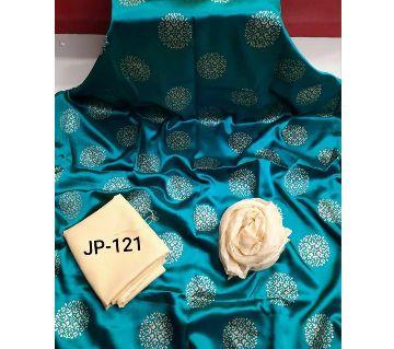 Japani Silk Afsan Screen Print Silk Salwar Kameez For Women Three Piece - Firozi Color