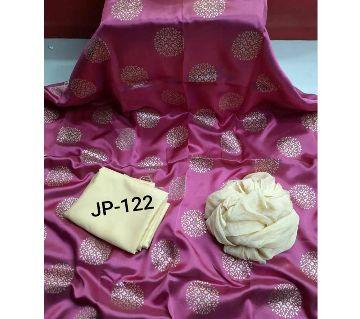 Japani Silk Afsan Screen Print Silk Salwar Kameez For Women Three Piece - Light Pink Color