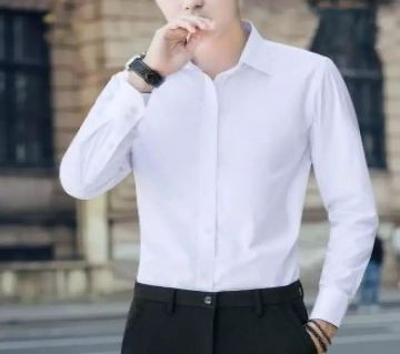 Mens Full Sleeve Casual Shirt - White Color