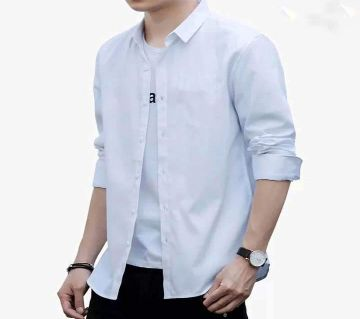 Special Mens Full Sleeve Casual Shirt - White