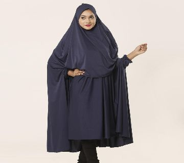 Women Muslim Wear Khimmer with Niqab-1 Piece Blue Color