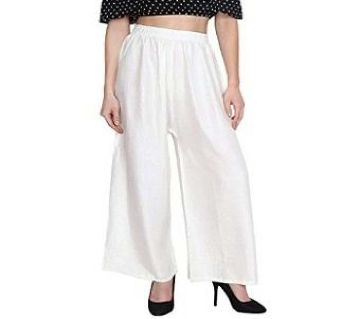 Linen palazzo for women - 1 piece white color