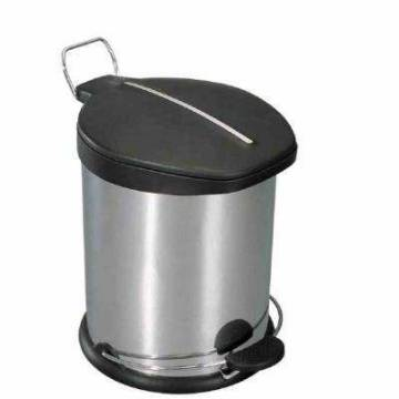 30L Stainless Steel Pedal Step Trash Can Home Office Rubbish Trash Garbage Bin Can - intl