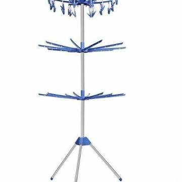 Stainless steel Towel Clothes Drying Rack -Silver and Blue