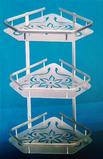 Bathroom Shelf Aluminum Triangular Rack Bathroom Accessories Storage Organizer For Shampoo Soap Cosmetic Basket Holder 3 Layer