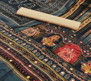 Rajasthani Bootics Unstitched Cotton Three piece