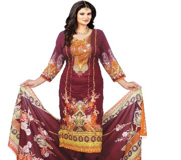 Pakiza Khadi Unstitched Salwar Kameez For Women. (3759-D)