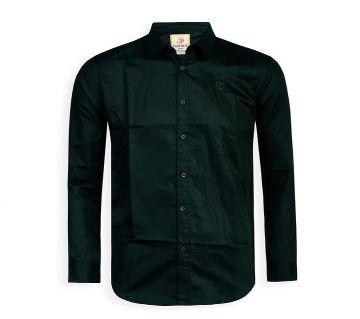 Full Sleeve Solid Color Shirt For Men - Dark Slate Gray - Cod 307