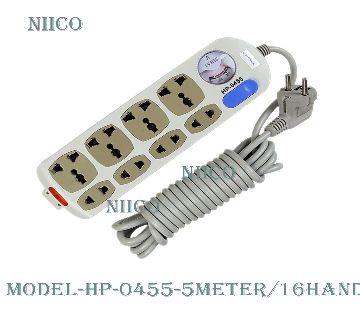 Multiplug 8 port Socket HP-0455-5 Meter=16Fit-Hand