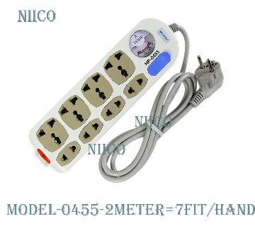 Multiplug 8 port Socket HP-0455-2 Meter=7fit-Hand