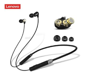 Lenovo HE08 Wireless Headphones Neck Hanging Handsfree Earbuds Earphones