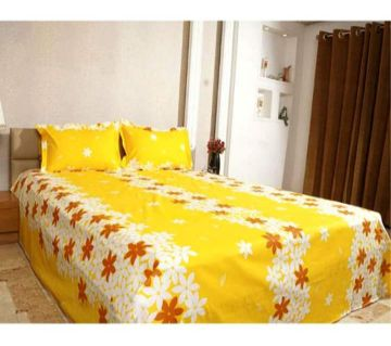 King Size Cotton Bedsheets Yellow