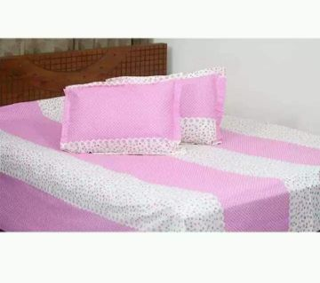 King Size Cotton Bedsheets Light Pink