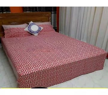 King Size Cotton Bedsheets Red