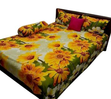 King Size Cotton Bedsheets Sunflower