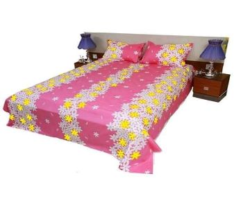 King Size Cotton Bedsheets Pink