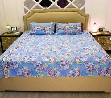 King Size Cotton Bedsheets Sky Blue