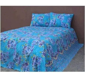 King Size Cotton Bedsheets Blue