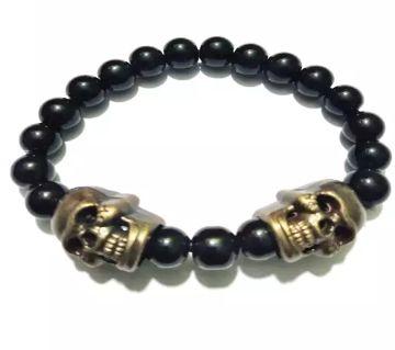 Skull and Stone Bracelet  Black