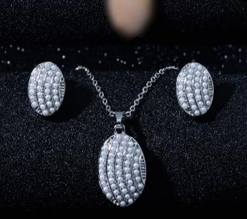 Pearl Necklace Earrings Sets