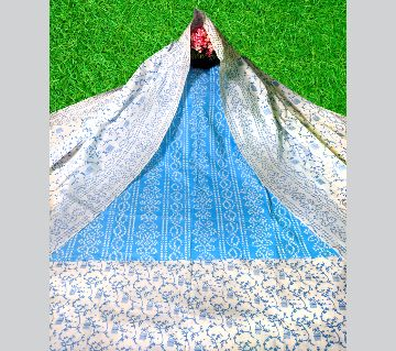 Unstitched Chondi Suit Three Piece-Sky Blue